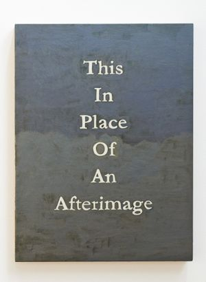 A Quartet of Artists - Lynne Barwick |This in Place of an Afterimage