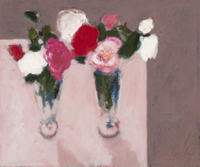 Chris Capper - 2 vases and camelias